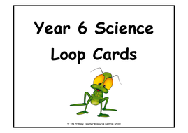 Year 6 Science Definition Loop Cards by ResourceCentre