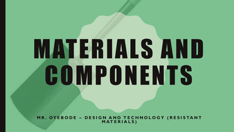 Materials and Components - The Garden Spade