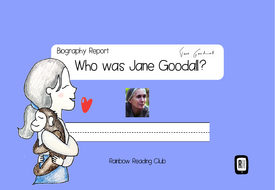 Biography Research Report Jane Goodall Biography Worksheet By