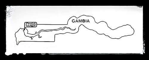 Map of Gambia - Colouring Sheet