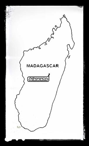 Map of Madagascar - Colouring Sheet