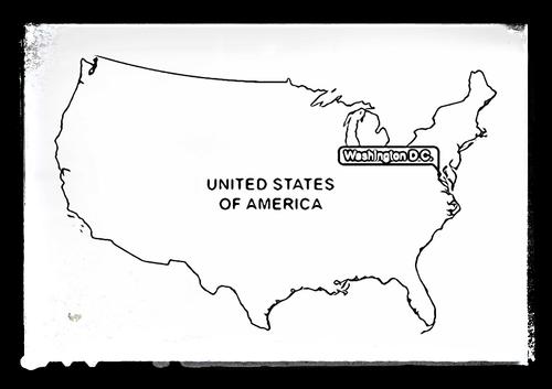 Map of USA - Colouring Sheet