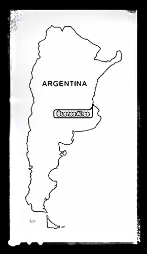 Map of Argentina - Colouring Sheet