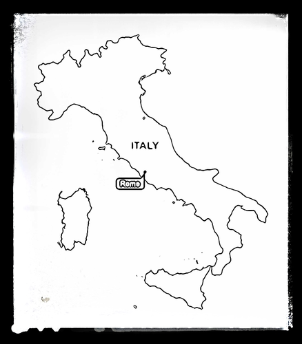 Map of Italy - Colouring Sheet