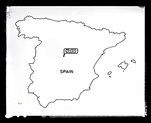 Map of Spain - Colouring Sheet