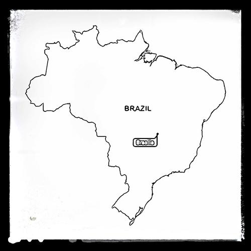 Map of Brazil - Colouring Sheet