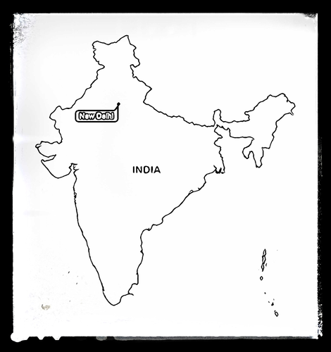 Map of India - Colouring Sheet