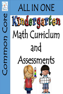 Kindergarten Math Curriculum with Assessments BUNDLE | Common Core Aligned