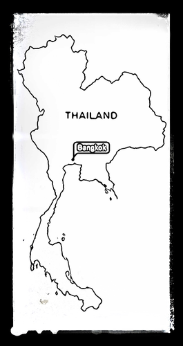 Map of Thailand - Colouring Sheet