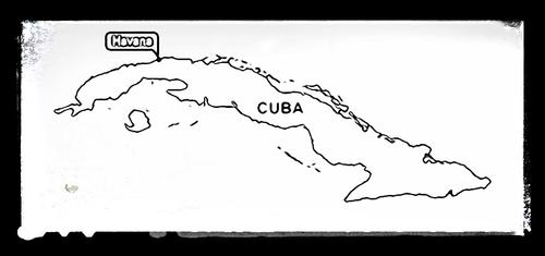 Map of Cuba - Colouring Sheet