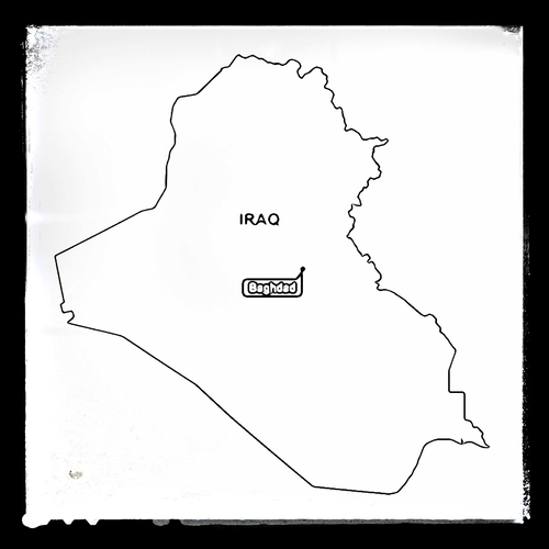 Map of Iraq - Colouring Sheet