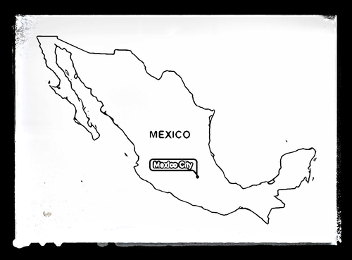Map of Mexico - Colouring Sheet