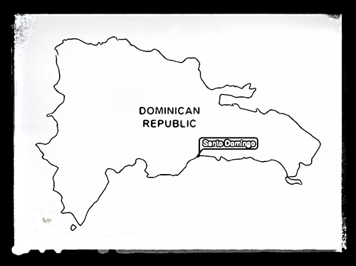Map of Dominican Republic - Colouring Sheet