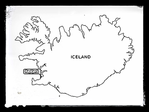 Map of Iceland - Colour Sheet