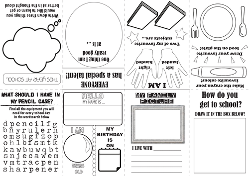 All About Me - Make your own folded zine
