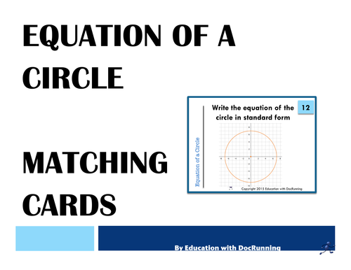 Equation Of A Circle Task Cards For Activity By Docrunning