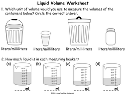 measuring liquid volume using standard units powerpoint and worksheets by online teaching. Black Bedroom Furniture Sets. Home Design Ideas