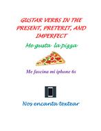 Gustar type verbs present preterit imperfect