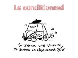 Le conditionnel présent - nagłówek - Francuski przy kawie
