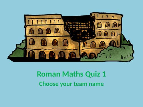 Roman Maths Powerpoint Quizzes (Yr 3/4 , Yr 5/6)