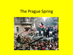 GCSE History, The Prague Spring, Superpower Relations and the Cold War