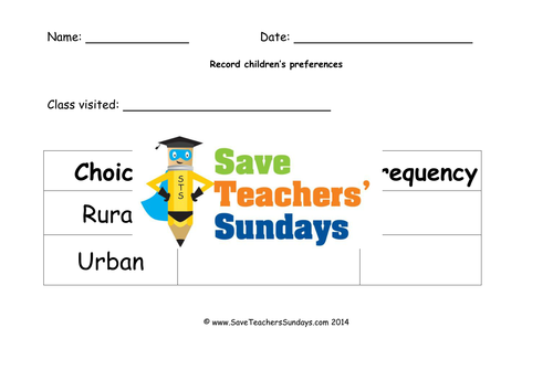 rural or urban survey ks1 lesson plan worksheet and vocabulary by saveteacherssundays. Black Bedroom Furniture Sets. Home Design Ideas