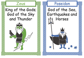 Ancient Greek Gods and Goddesses Cards