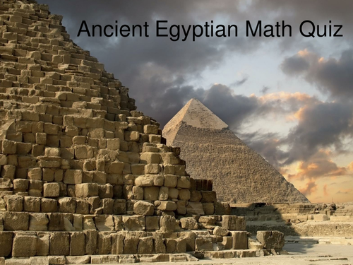 Ancient Egypt Maths PowerPoint Quiz