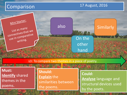 Poetry Comparison- Island Man and Hurricane Hits England