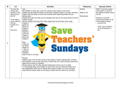 Cities and Seas of the UK KS1 Lesson Plan Map Worksheet and