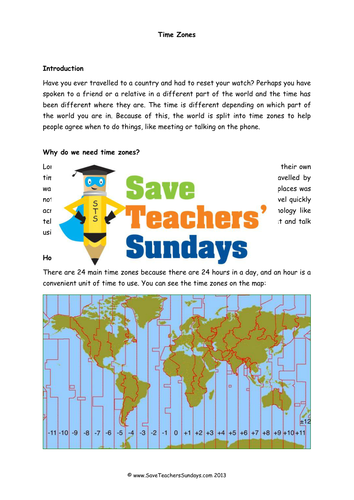 time zones ks2 lesson plan information text and question answer frame by saveteacherssundays. Black Bedroom Furniture Sets. Home Design Ideas