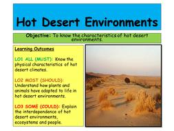 Hot Deserts AQA A 2016