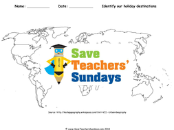 Our favourite holiday destinations ks2 lesson plan world map and our favourite holiday destinations ks2 lesson plan world map and worksheet gumiabroncs Images
