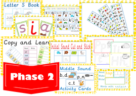Free Phase 2 Phonics Activities Letter S