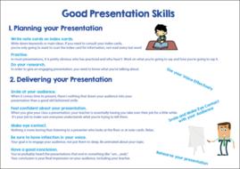 Making presentations.