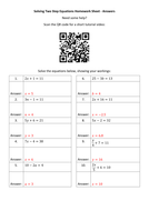 Solving-Two-Step-Equations-Homework-Sheet---Answers.docx