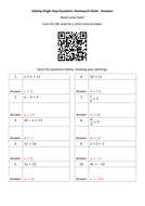 Solving-Single-Step-Equations-Homework-Sheet---Answers.docx