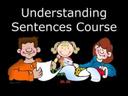 Teaching Sentences Course - A Revision Unit to Aid Sentence Control