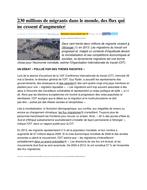 Les migrations (Compréhension de lecture A2 B1) by