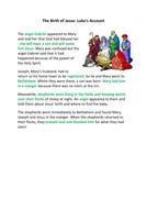 Birth of Jesus Luke and Matthew Comparison Nativity Christmas Story