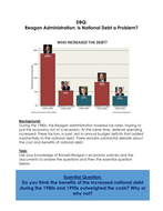 Ronald Reagan and Reganonomics- was it successful- a lot of lessons, worksheets and resources