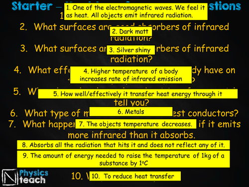 GCSE AQA Physics - P2.5 - Heating and insulation (+required practical 2)