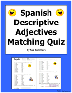 Spanish adjectives of people and nounadjective agreement quiz by spanish adjectives of people and nounadjective agreement quiz platinumwayz