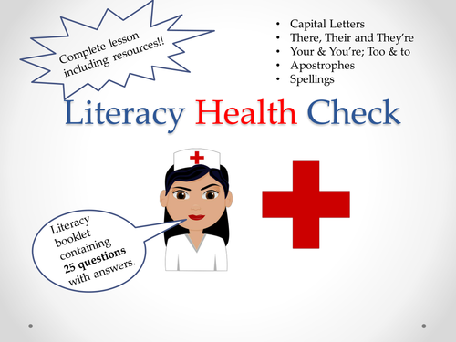 Literacy Health Check - First Lesson Test