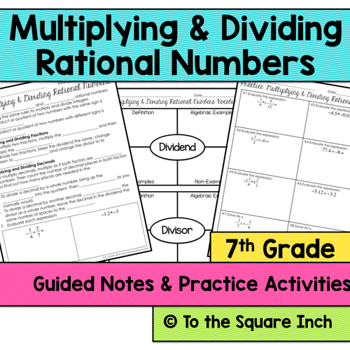 multiplying and dividing rational numbers notes by katembee us teacher lessons tes. Black Bedroom Furniture Sets. Home Design Ideas