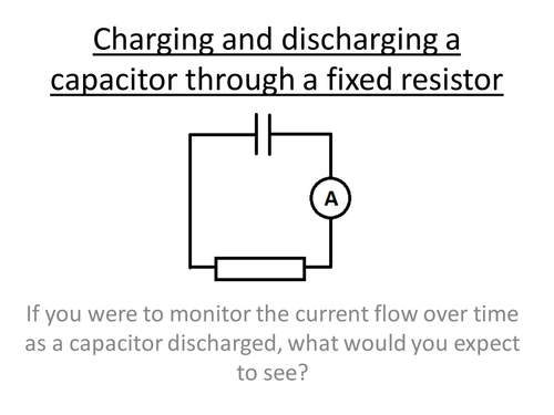 Physics A-Level Year 2 Lesson - Charge and discharge capacitors (PowerPoint & lesson plan)