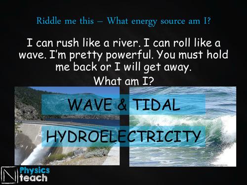 GCSE AQA Physics - P3.2-3 - Renewable Energy Resources