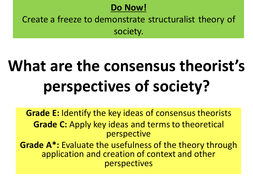 what is consensus theory in sociology