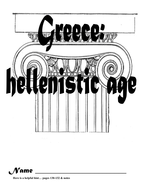 Hellenistic Greece Multiple Choice, Short answer, essay