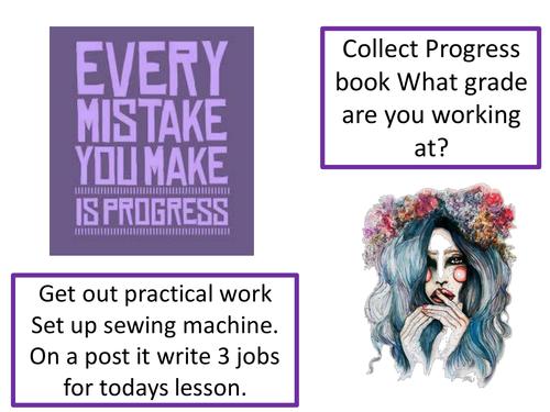 GCSE Textiles Technology Practical Lesson Presentation.